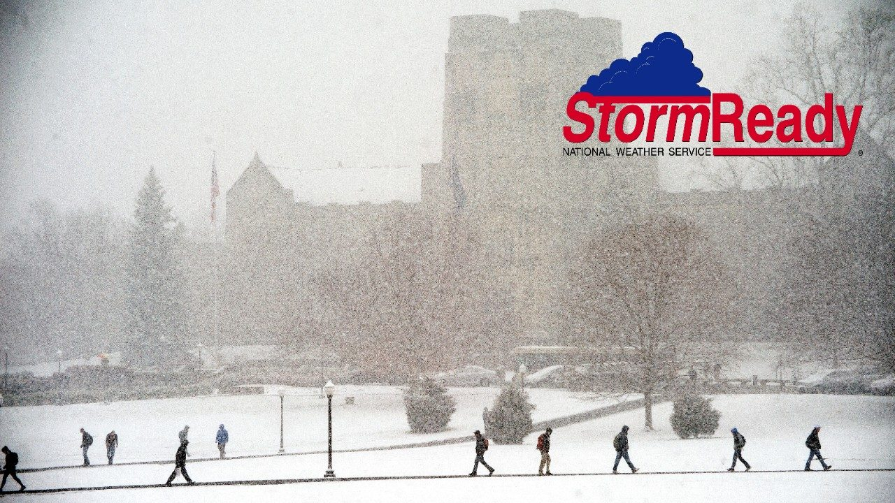 In 2010, Virginia Tech became the first college or university in Virginia to receive the StormReady designation. Since then, the university has completed the renewal process twice.