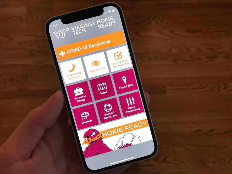 Hokie ready app screen
