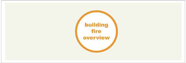 Building Fire Overview Icon Large